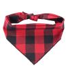 Fergus červeno-černý károvaný šátek pro psa