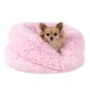 Natalie růžový chlupatý pelech pro psa