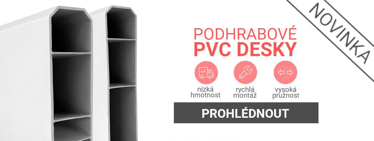 PVC podhrabové desky