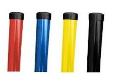 Sloupky a vzpěry DAMIPLAST® barevné Zn+PVC
