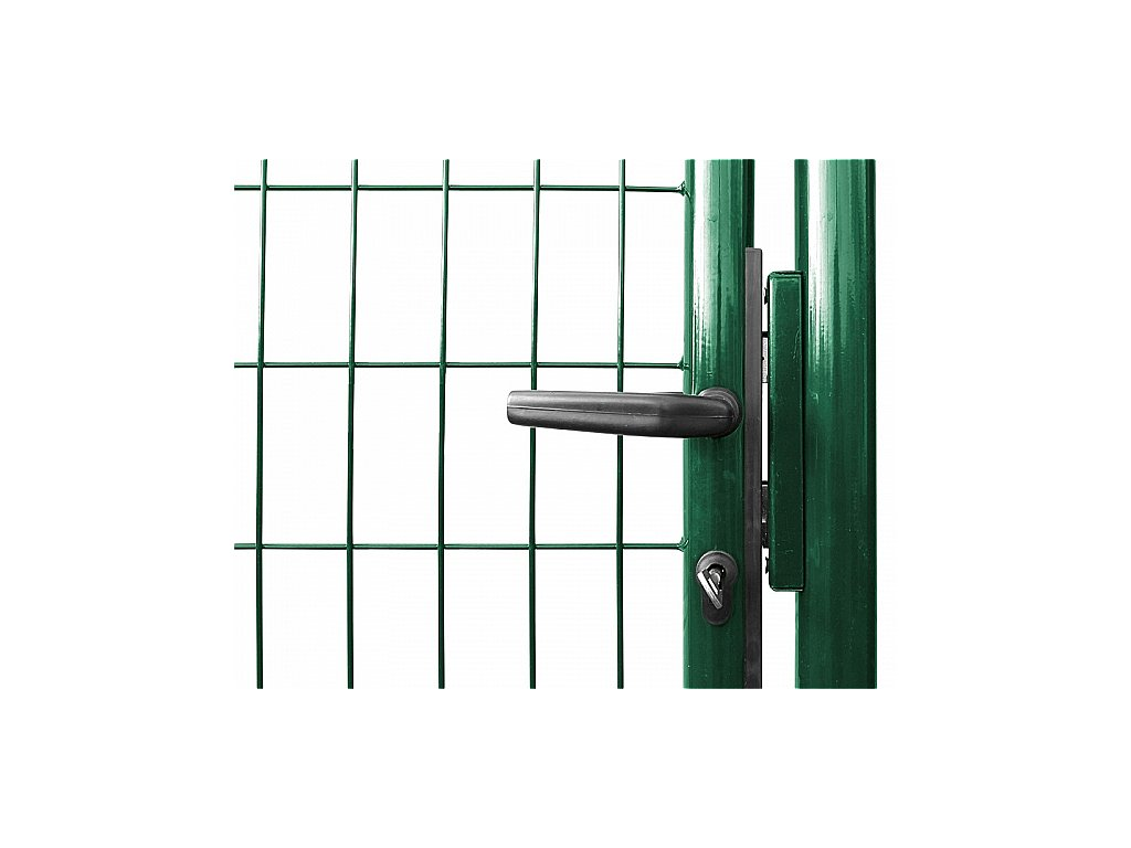 Branka SOLID š. 1073 mm x v. dle výběru, dózický zámek Zn+PVC zelená Výška v mm:: 950 mm