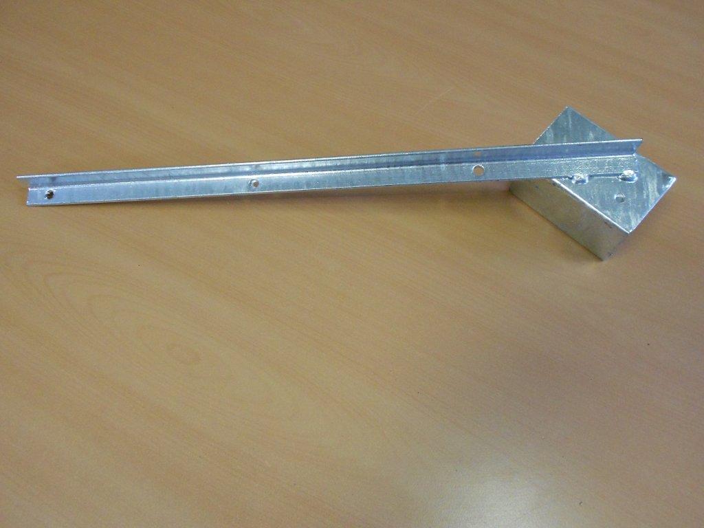 Bavolet 1 stranný na sloupek 60x60 mm-Zn