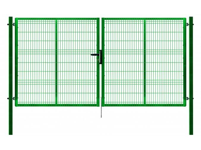 Ideal brána Pilofor 3D š. 4118 x v. dle výběru, se zámkem, zelená RAL6005