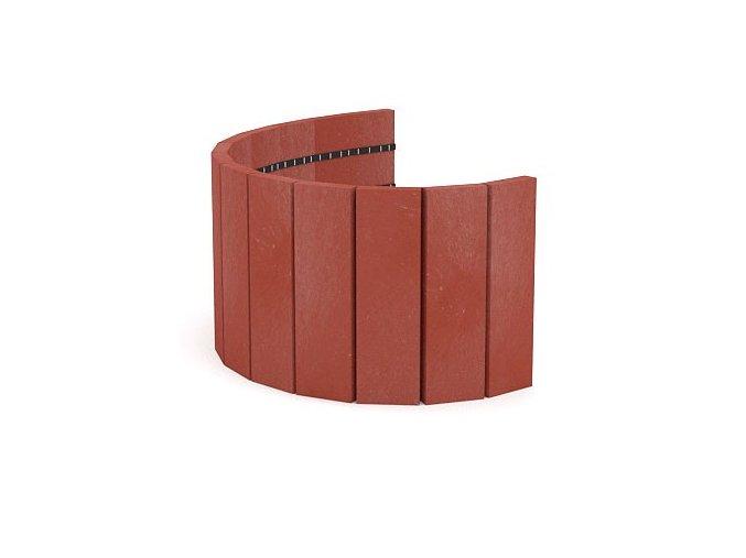 Recyklát palisáda 290x21x1010 mm,rovná cihlová