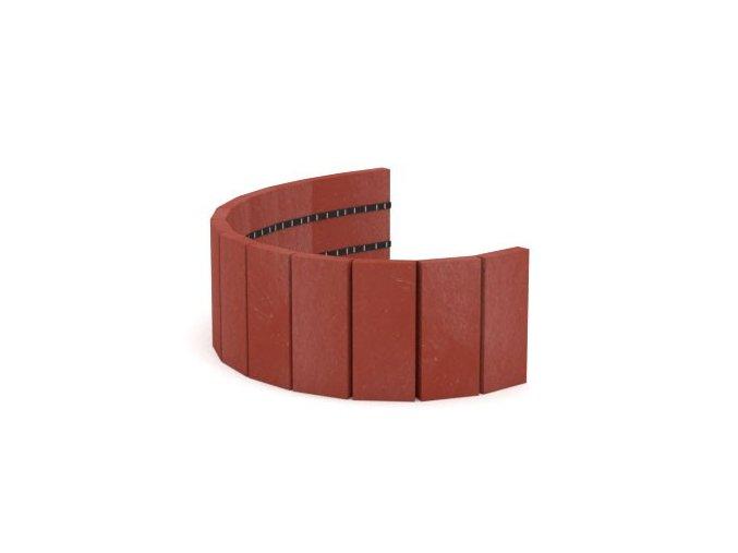 Recyklát palisáda 190x21x1010 mm,rovná cihlová