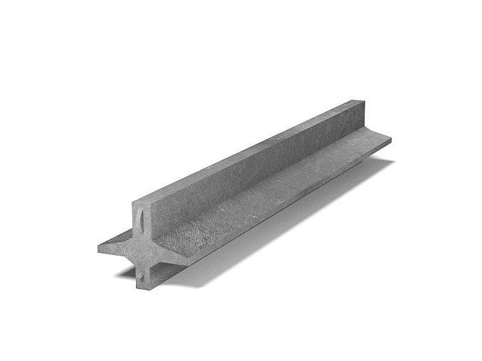 Recyklát lehký plotový základ 196x170 mm,1,2 m,Š
