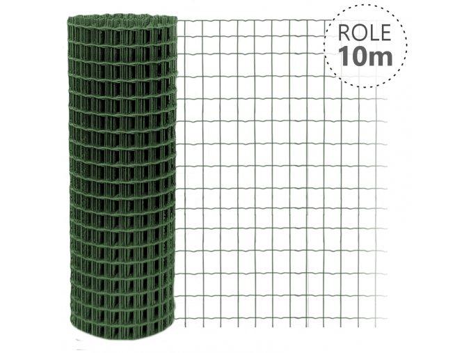 Svařované pletivo Pilonet Middle, oko 50 x 100mm, barva zelená, výška dle výběru