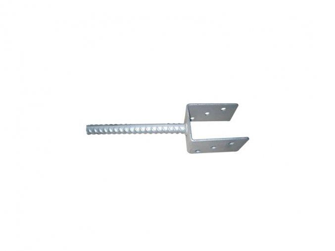 Patka pro ukotvení do betonu pro sloupek 80x80 Zn