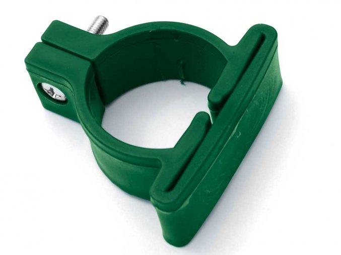 Plastová objímka pro kulatý sloupek / 48 mm vč.šroubu / barevná