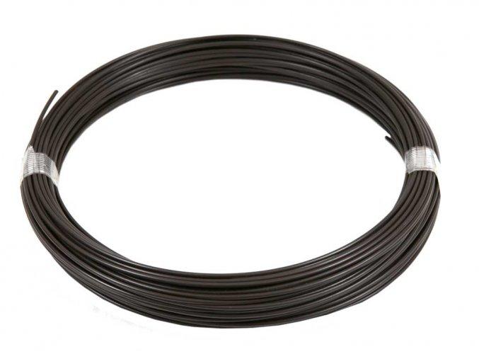 Napínací drát Zn+PVC 2,25/3,4 - 52 bm hnědý