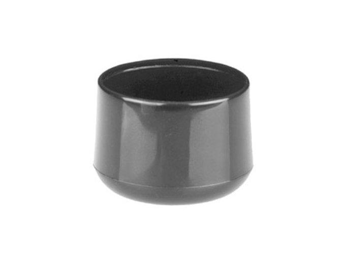 Klobouček sloupkový PVC 38 mm černá