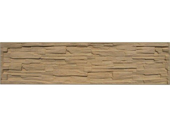 Betonový panel rovný jednostranný 200x50x4 cm - štípaný kámen - pískovec