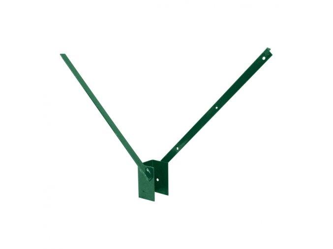 Bavolet 2-stranný na sloupek 60x60 mm-Zn+PVC