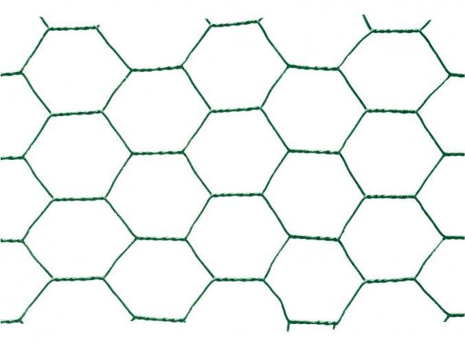 Chovatelské šestihranné pletivo Zn+PVC 25/1000 - 25m