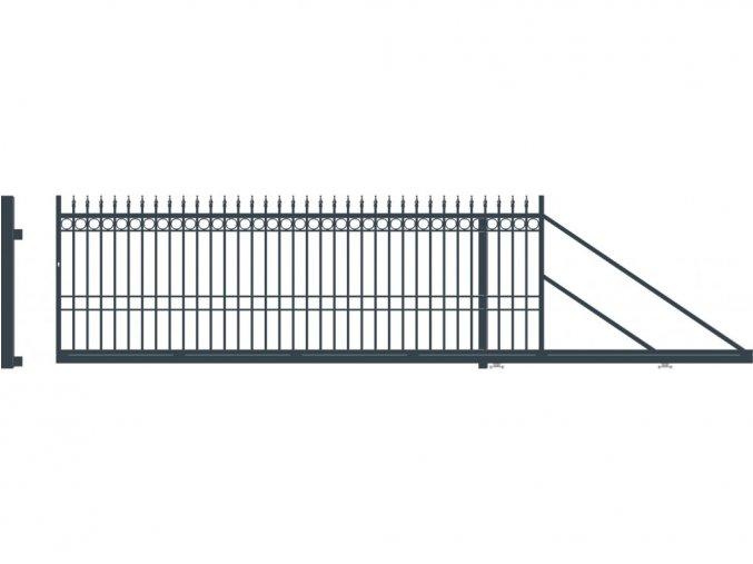 BRISTOL brána posuvná PRAVÁ, šířka 4000, výška 1440 mm