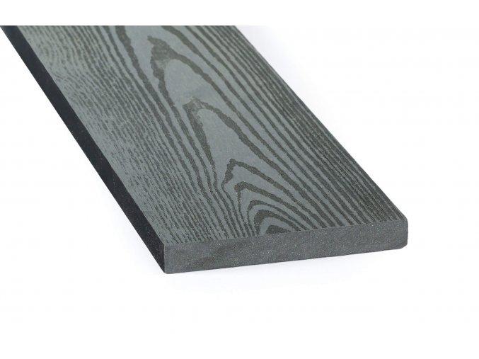 DAMIWPC plotovka 120x15 mm, rovná, šedá