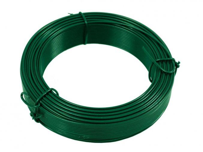 Vázací drát PVC 1,4/2,00 mm, 50m, zelený