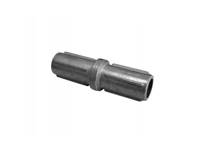Nástavec pro sloupek 42 mm, stříbrný