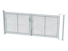 Zahradní brána celovýplet š.3600 mm x v. dle výběru-příprava na FAB vč. sloupků