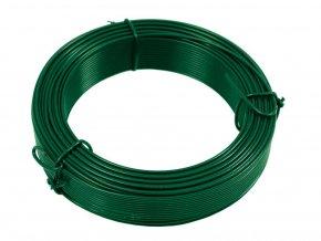 Vázací drát PVC 1,0/1,4 mm,24m zelený