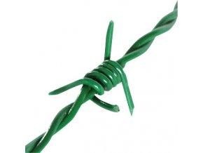 Ostnatý drát Zn+PVC 100 m