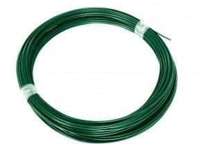 Napínací drát Zn+PVC 2,25/3,4 - 78 bm zelený