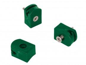 Držák napínacího drátu - tex,zelená - balení 10 ks