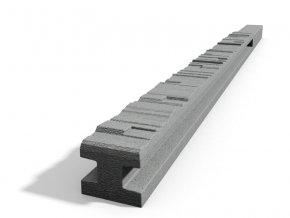 Betonový sloupek 2-str.štípaný kámen průběžný přírodní 100 cm