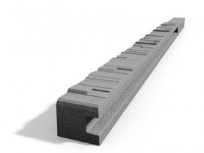 Betonový sloupek 2-str.štípaný kámen koncový přírodní 150 cm pravý