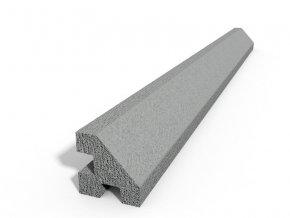 Betonový sloupek hladký rohový přírodní  100 cm