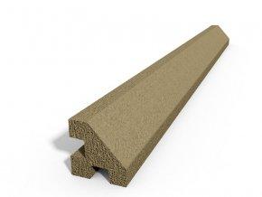 Betonový sloupek hladký rohový pískovec 150 cm