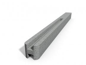 Betonový sloupek hladký průběžný přírodní  100 cm