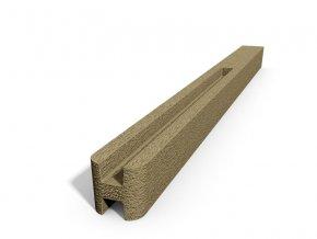 Betonový sloupek hladký průběžný pískovec  100 cm