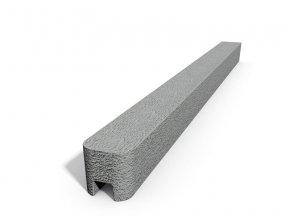 Betonový sloupek hladký koncový přírodní  200 cm