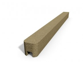 Betonový sloupek hladký koncový pískovec  250 cm