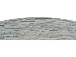 betonova doska jednostranna radius gray foto velka
