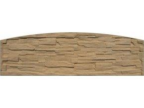 Betonový panel oblouk jednostranný 200x50-66x4,5 cm - štípaný kámen - pískovec