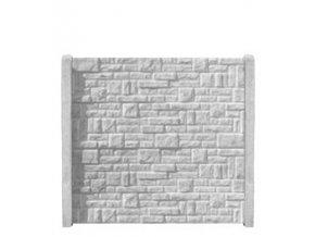 Betonový panel rovný jednostranný 200x50x4,5 - skládaný kámen - přírodní