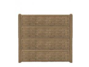 Betonový panel rovný jednostranný 200x50x4,5 - cihla ostrá - pískovec