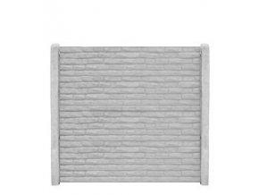 Betonový panel rovný oboustranný cihla baculatá 200 x 50 x 4,5 cm - přírodní