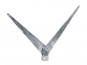Bavolet 2-stranný na sloupek 48 mm-Zn