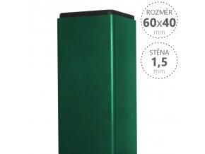 Sloupek Pilodel 60x40x1,5 x výška dle výběru, Zn + RAL zelená