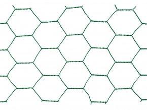 Chovatelské šestihranné pletivo Zn+PVC 13/1000 - bm