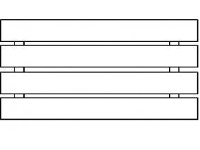 Plotové pole dřevo s nátěrem 2x Lazurol PP0 do v. 1000 mm