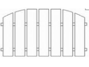 Plotové pole dřevo s nátěrem 2x Lazurol PP10 do v. 2000 mm