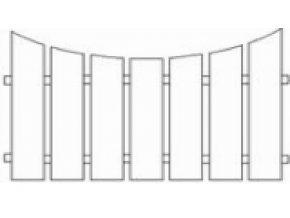Plotové pole dřevo s nátěrem 2x Lazurol PP11 do v. 2000 mm