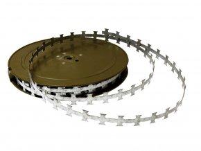Žiletková páska Zn 50 bm, plochá 20 mm, vzdálenost ostnů 25 mm