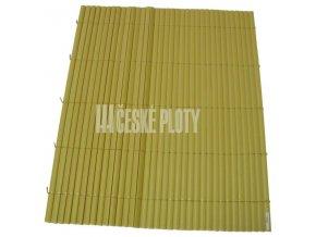 Bambus umělý žlutý mini 7mm,  výška dle výběru / role 3 m DOPRODEJ