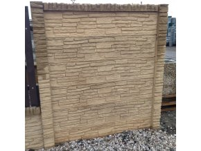 Betonový sloupek oboustranný 3000 x 120 x 120 mm - pískovec