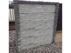 Betonový sloupek koncový 12x12x300 cm přírodní